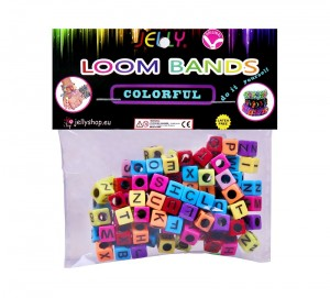 literki jelly do gumek Loom Bands